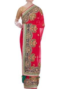 red-maroodi-work-georgette-sari