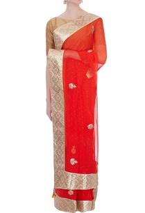 orange-gota-patti-chiffon-sari