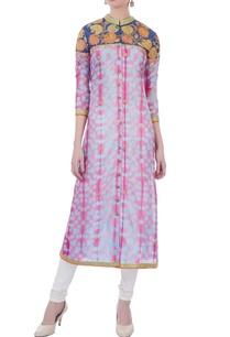 pink-blue-shibori-silk-kurta