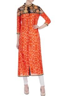orange-shibori-applique-kurta