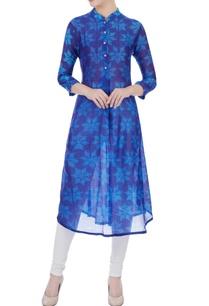 blue-chanderi-floral-dye-kurta
