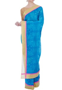 blue-chanderi-lotus-motif-sari