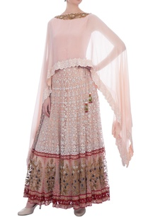 rose-pink-chiffon-cape-with-net-skirt