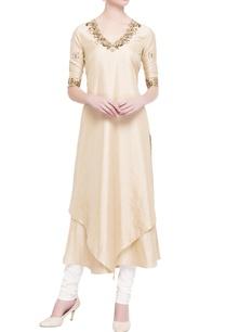 beige-cotton-silk-double-layer-kurta