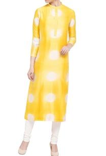 yellow-white-tie-dye-kurta
