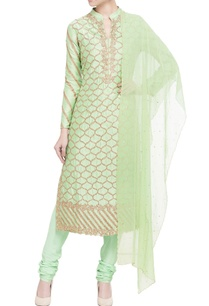 light-green-embroidered-kurta-set