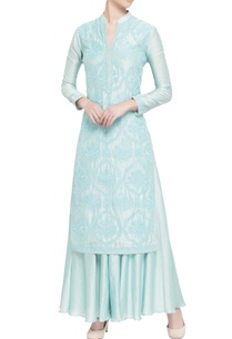 light-blue-silk-chanderi-embellished-kurta-set