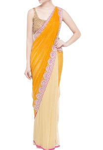 yellow-gold-embellished-sari