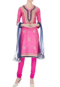 pink-raw-silk-cotton-gota-work-kurta-set