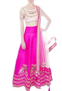pink-raw-silk-net-lehenga-set