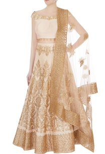 beige-peach-embroidered-lehenga-with-dupatta