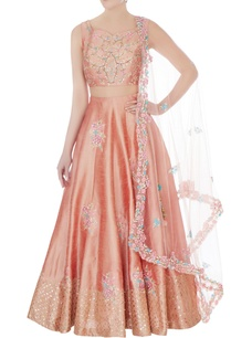 peach-embroidered-blended-silk-lehenga-set-with-net-dupatta