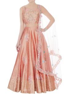 peach-embroidered-blended-silk-lehenga-set-with-net-dupatta