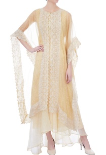 pale-yellow-embroidered-organza-kaftan