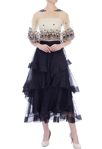 black-organza-layered-midi-skirt