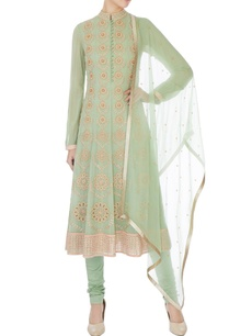 mint-green-embroidered-georgette-a-line-kurta-set