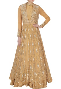 beige-sequin-bead-embellished-anarkali-with-net-jacket