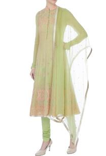 light-green-georgette-embroidered-kurta-with-churidar-dupatta