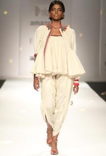 ivory-khadi-jacket-with-ruffled-top-dhoti-pants