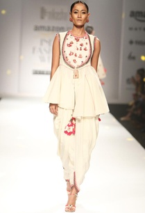 ivory-khadi-embroidered-top-with-cowl-dhoti-pants