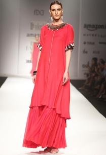 red-embroidered-tunic-with-gathered-maxi-skirt
