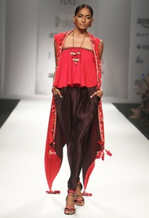red-ruffled-top-with-embroidered-overjacket-printed-jodhpuri-pants