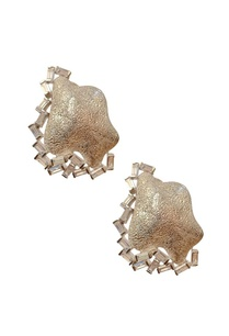 silver-textured-crystal-studs
