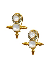 gold-plated-crystal-dimante-spike-studs