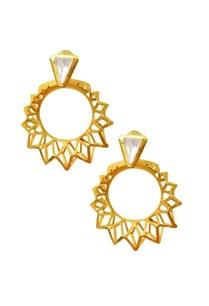 gold-plated-crystal-pyramid-hoop-earrings