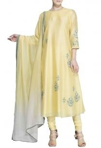 lemon-yellow-blue-floral-embroidered-kurta-set