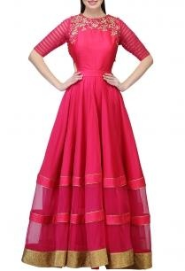 fuschia-embroidered-cut-out-gown