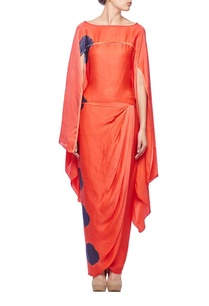 watermelon-indigo-ink-cape-blouse-with-draped-skirt