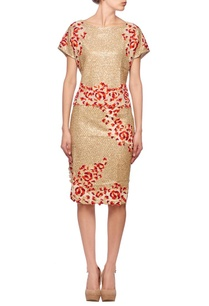 gold-sequin-coral-floral-top-with-skirt