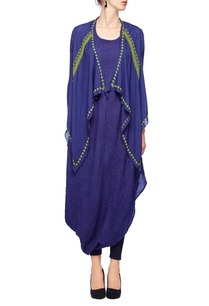 indigo-lime-green-embroidered-jacket-tunic