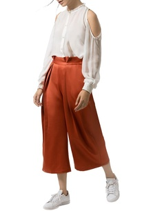 burnt-orange-pleated-culottes