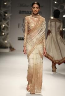 ivory-beige-peacock-sequin-sari