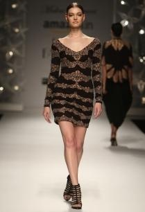 black-nude-motif-dress
