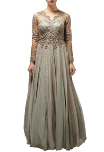 ash-olive-embroidered-anarkali