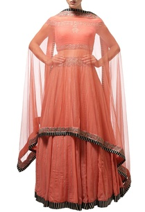 dusky-orange-silver-embroidered-lehenga-set