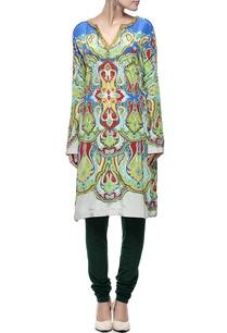 aqua-multi-colored-printed-embellished-kurta-set