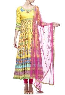 yellow-pink-motif-printed-embellished-anarkali-set