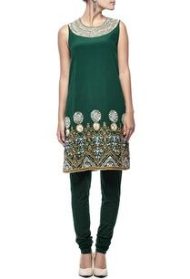 emerald-floral-embellished-kurta-set