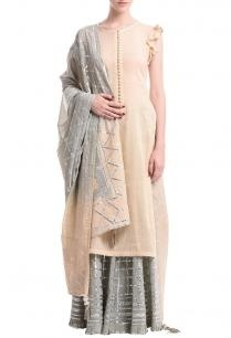 pale-peach-grey-silver-gota-sharara-set