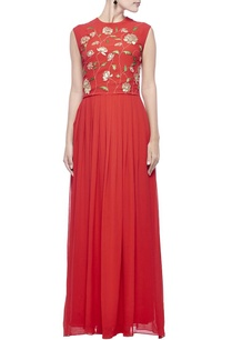 red-gold-zari-embroidered-maxi-dress