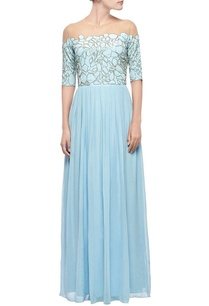 powder-blue-black-scale-embellished-gown