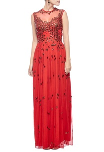 red-copper-floral-embellished-gown
