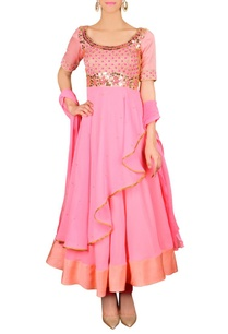 peachy-pink-floral-embellished-anarkali-set