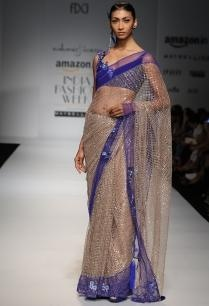 antique-gold-indigo-floral-mesh-sari