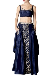 navy-gold-floral-embroidered-lehenga-set