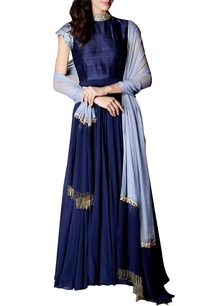 navy-powder-blue-high-neck-anarkali-set